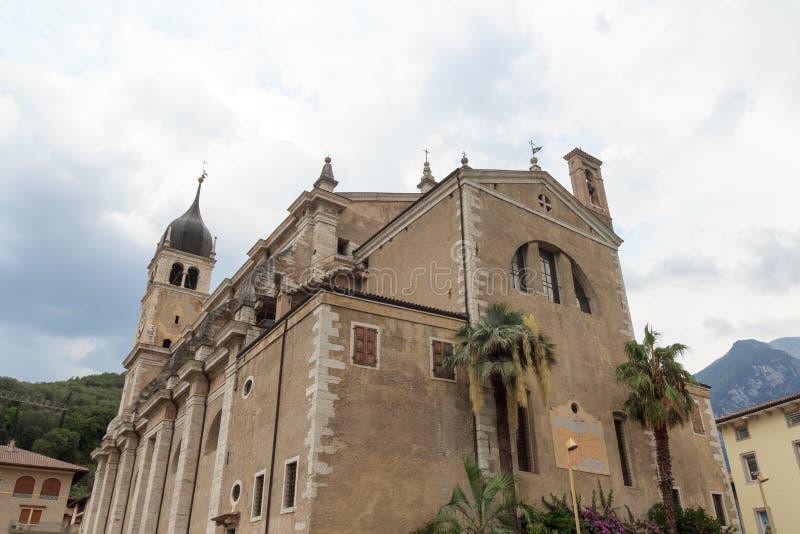 Église de delle Grazie de Santa Maria à Arco, Italie images libres de droits