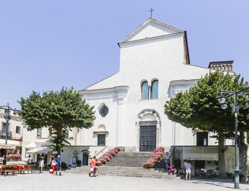 Église de Duomo de cathédrale de Ravello, côte d'Amalfi, image stock
