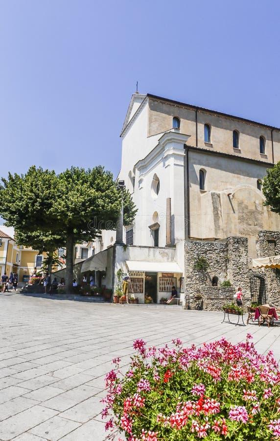 Église de Duomo de cathédrale de Ravello, côte d'Amalfi, photos libres de droits