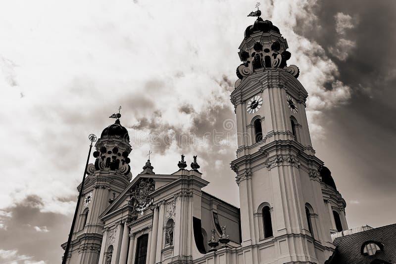 Église de Famouse Theatiner à Munich photo stock