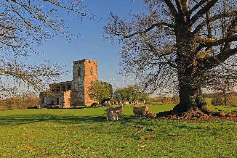 Église de Fawsley de St Mary la Vierge image stock