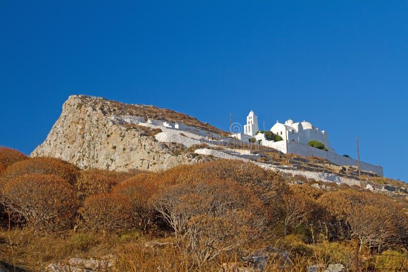 Église de Folegandros images libres de droits