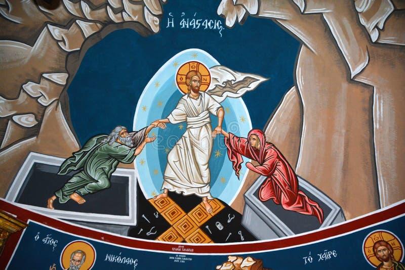 Église de fresque de la tombe sainte image stock