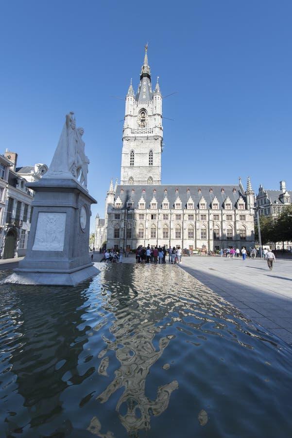 Église de Gand - Belgique image stock