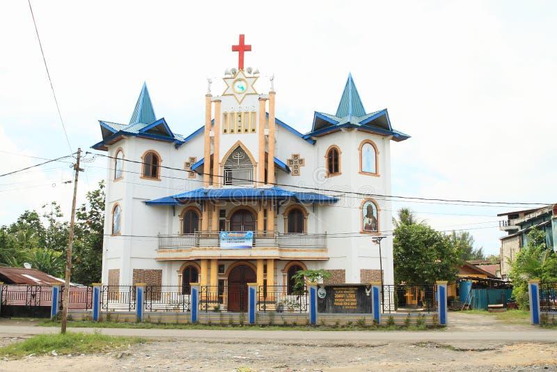 Église de Gereja Pentakosta di Tanah Papouasie dans Manokwari images libres de droits