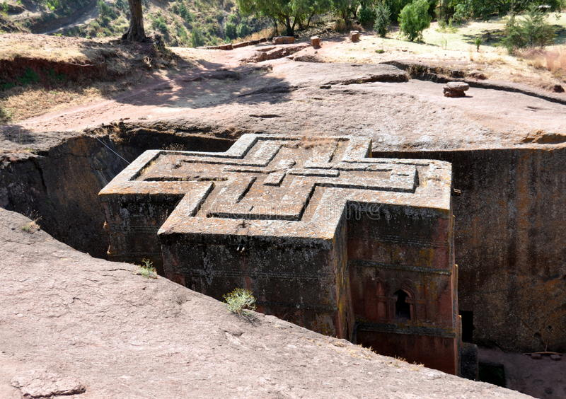 Bet Giyorgis Church dans Lalibela photographie stock libre de droits