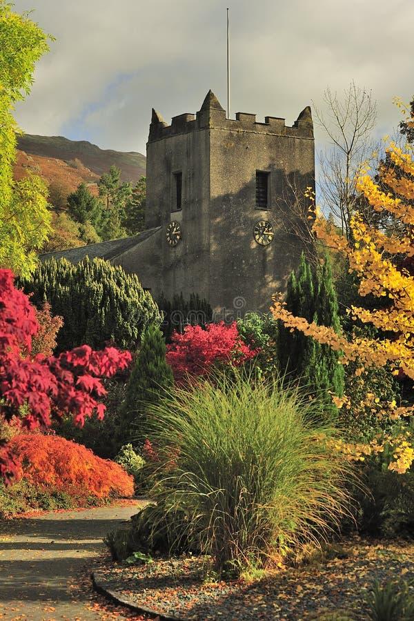 Église de Grasmere, Cumbria image stock