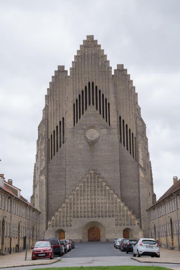 Église de Grundtvig, Copenhague, Danemark photos stock