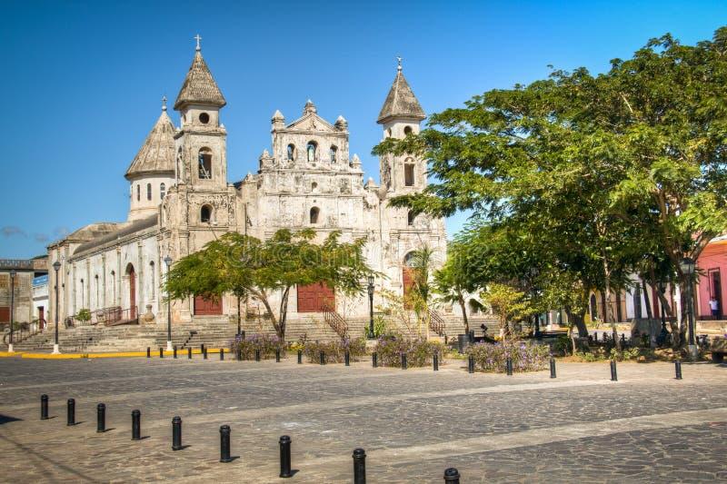 Église de Guadalupe à Grenade, Nicaragua image libre de droits
