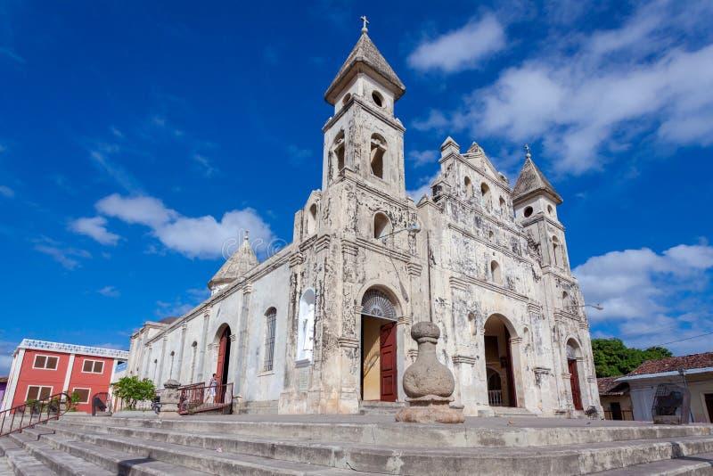 Église de Guadalupe à Grenade, Nicaragua image stock