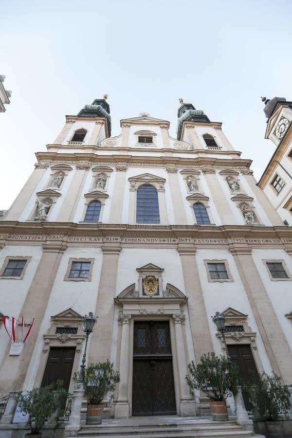Église de jésuite à Vienne photographie stock libre de droits