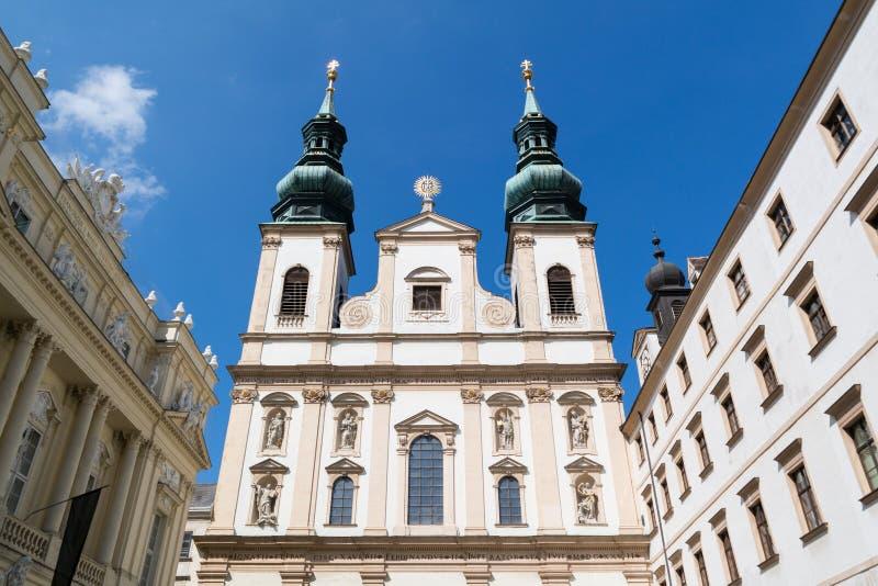 Église de jésuite ou d'université à Vienne, Autriche photo stock