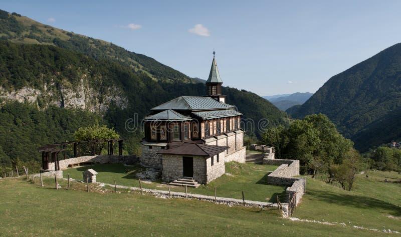 Église de Javorca - soldats austro-hongrois tombés d'un mémorial de la première guerre mondiale en parc national de Triglav en Ju photos libres de droits