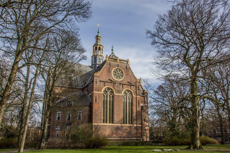 Église de kerk de Nieuwe au centre de Groningue photos stock