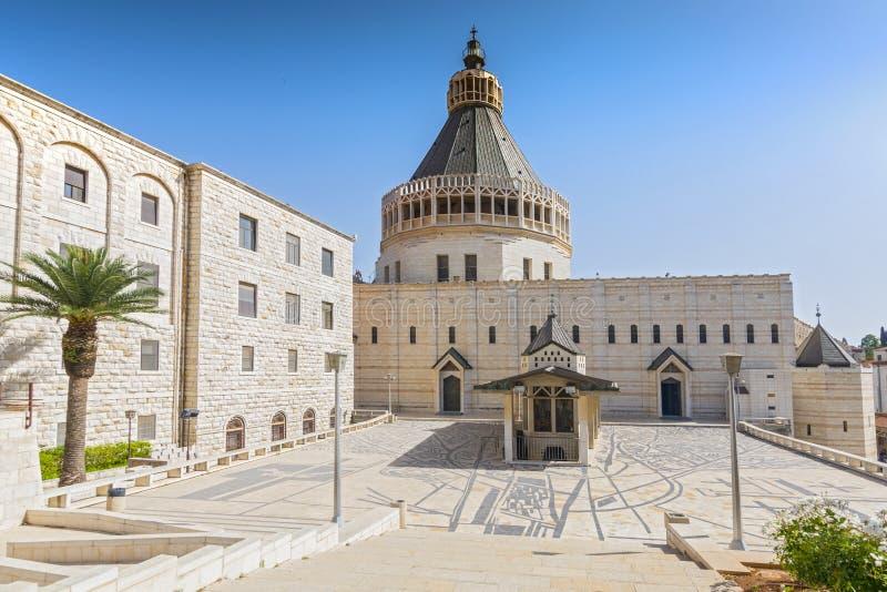 Église de l'annonce ou la basilique de l'annonce dans la ville de Nazareth en Galilée Israël du nord photos libres de droits
