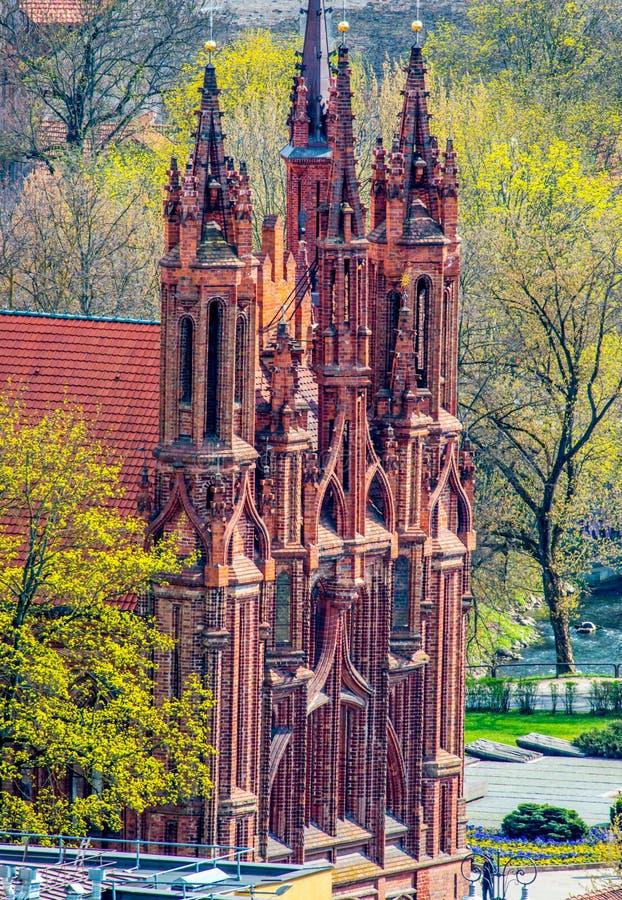 Église de l'ARO de saint à Vilnius image stock