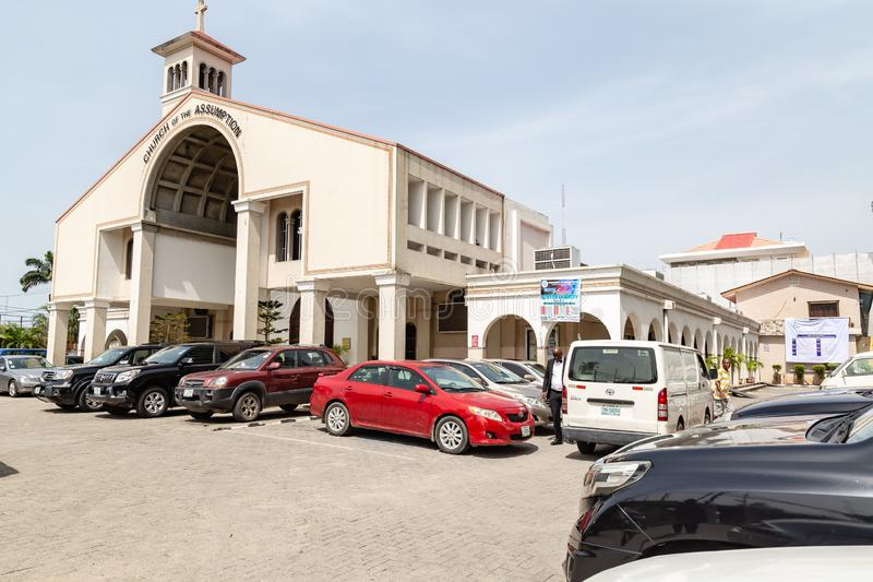 Église de l'hypothèse, Falomo, Ikoyi Lagos Nigéria images libres de droits
