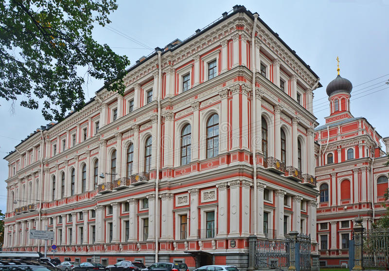 Église de l'icône de la mère de Dieu toute la joie s'affligeante au palais de Nikolaev dans le St Petersbourg, Russie images stock