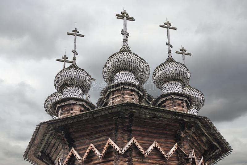 Église de l'intervention Île de Kizhi, secteur de Medvezhyegorsky, Carélie Fédération de Russie image libre de droits