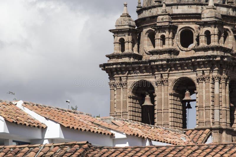 Église de La Compania de Jésus sur la place de Plaza de Armas dans Cuzco, P photos stock