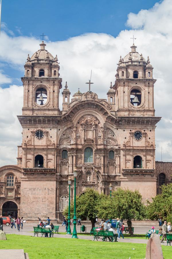 Église de La Compania de Jésus dans Cuzco photos stock