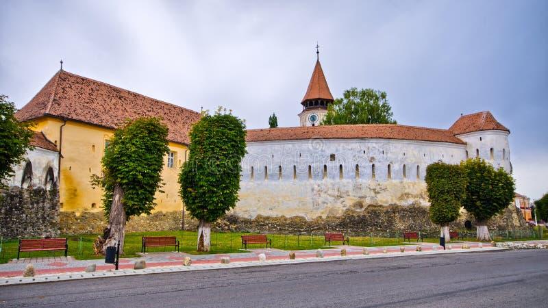 Église de la défense dans Prejmer, Roumanie photographie stock libre de droits