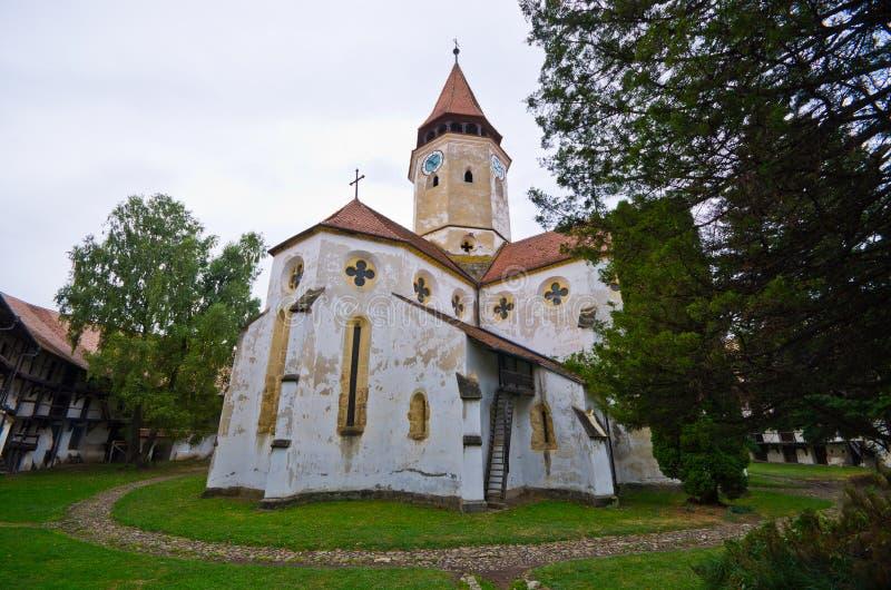 Église de la défense dans Prejmer, Roumanie image libre de droits