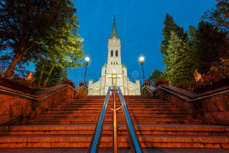 Église de la famille sainte dans Zakopane photographie stock