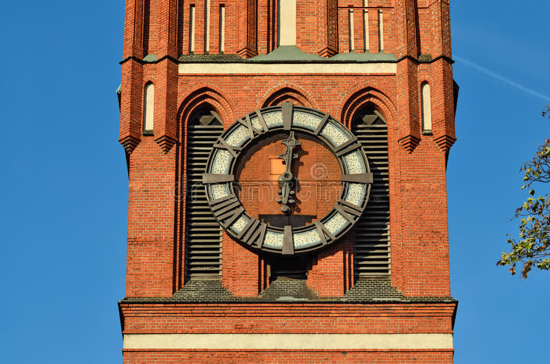 Église de la famille sainte (fragment) Kaliningrad, Russie photos libres de droits
