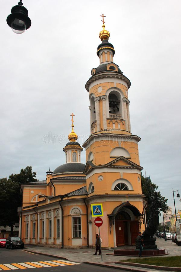 Église de la nativité de la vierge bénie à Moscou, Russie image libre de droits