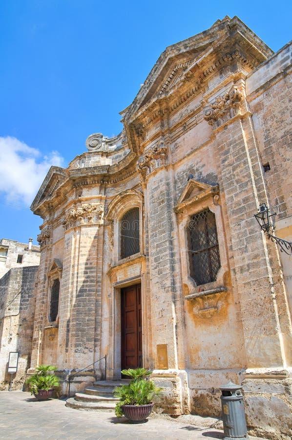 Église de la pureté. Nardo. La Puglia. L'Italie. image libre de droits