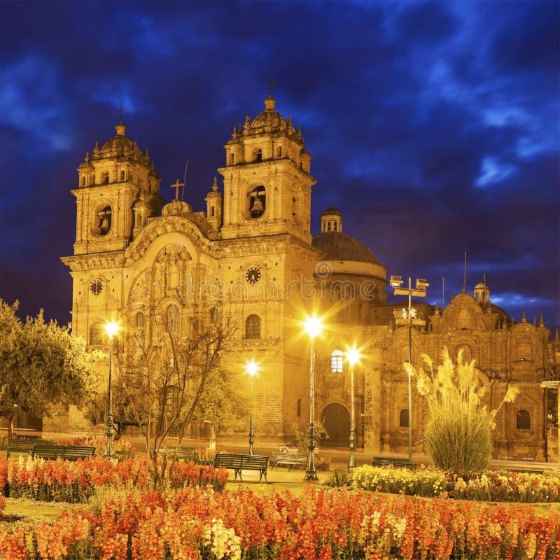 Église de la société de Jésus dans Cuzco image stock