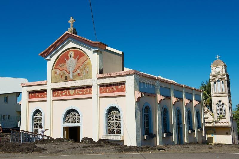 Église de laves de DES de Notre Dame en Sainte-Rose De La Reunion, France photos libres de droits
