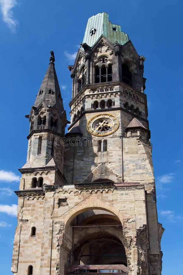 Église de mémorial de Kaiser Wilhelm images libres de droits