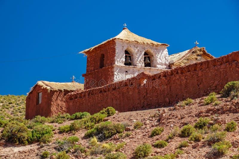 Église de Machuca en San Pedro Atacama, Chili photo libre de droits