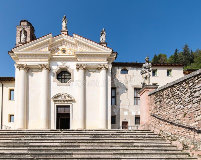 Église de Madonna del Carmine dans Marostica, Italie photos libres de droits