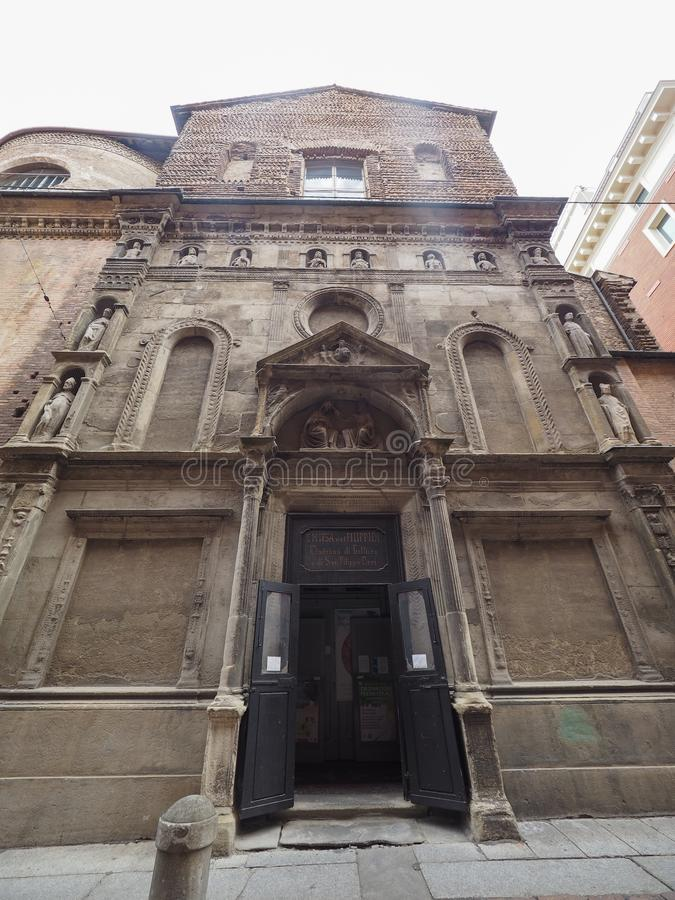 Église de Madonna di Galliera aka San Filippo Neri à Bologna images stock