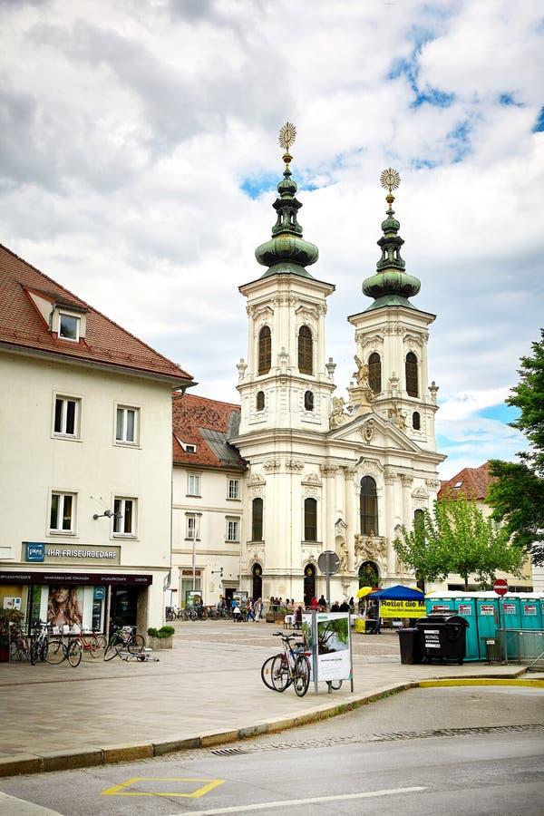 Église de Mariahilf, Graz, Autriche photo libre de droits