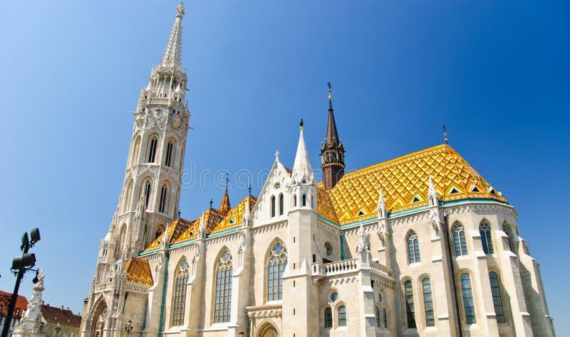 Église de Matthias à Budapest, Hongrie photo libre de droits