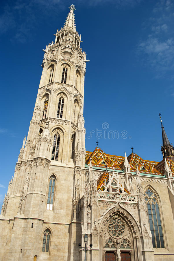 Église de Matthias à Budapest (Hongrie) image stock