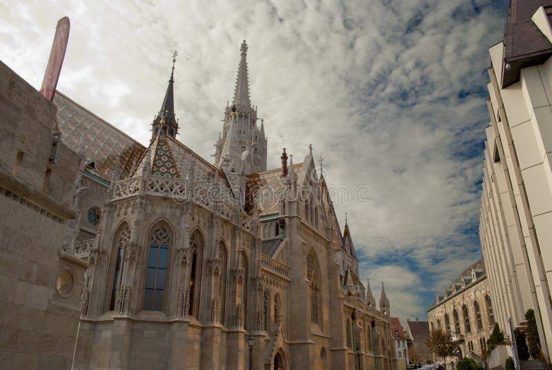 Église de Matthias à Budapest (Hongrie) images libres de droits