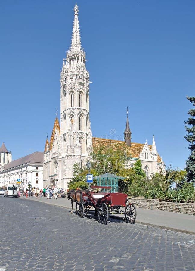 Église de Matthias, Budapest, Hongrie photo stock