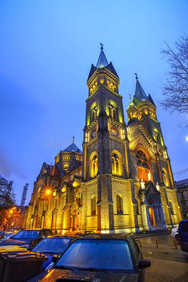 Église de millénaire, Timisoara, Roumanie photo stock