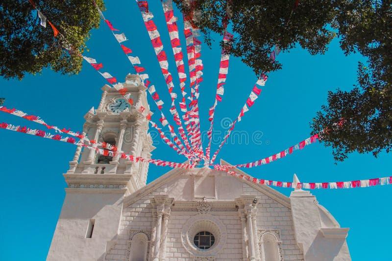 Église de mission décorée photographie stock