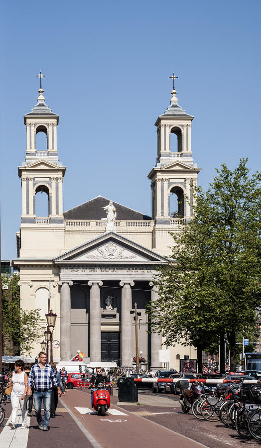 Église de Moïse et d'Aaron à la place de Waterloo photo stock