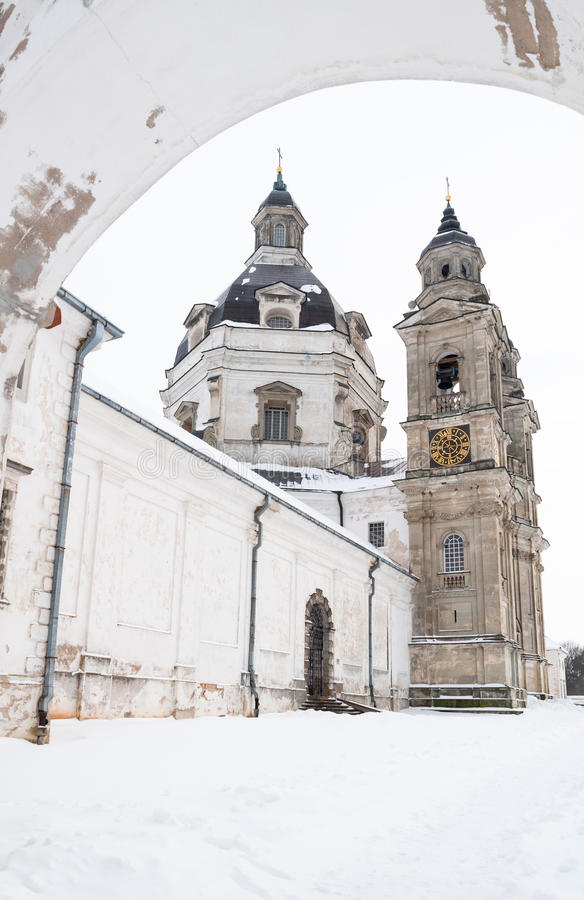 Église de monastère de Pazaislis images libres de droits