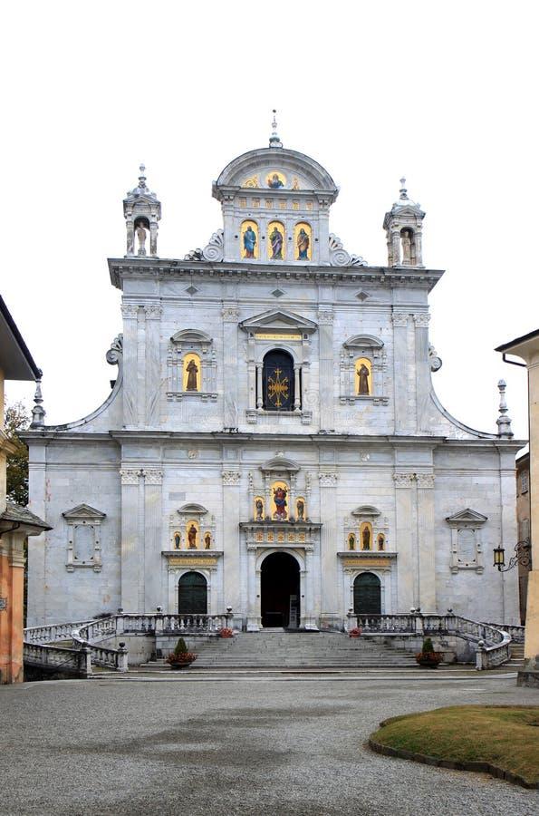 Église de montagne sacrée de Varallo en Italie images libres de droits