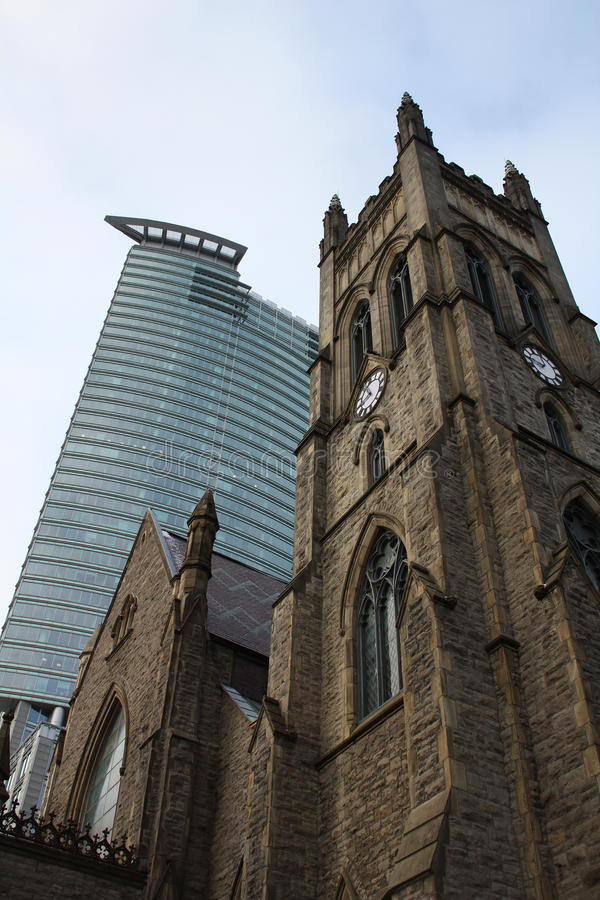 Église de Montréal, vieux et neuf photo libre de droits