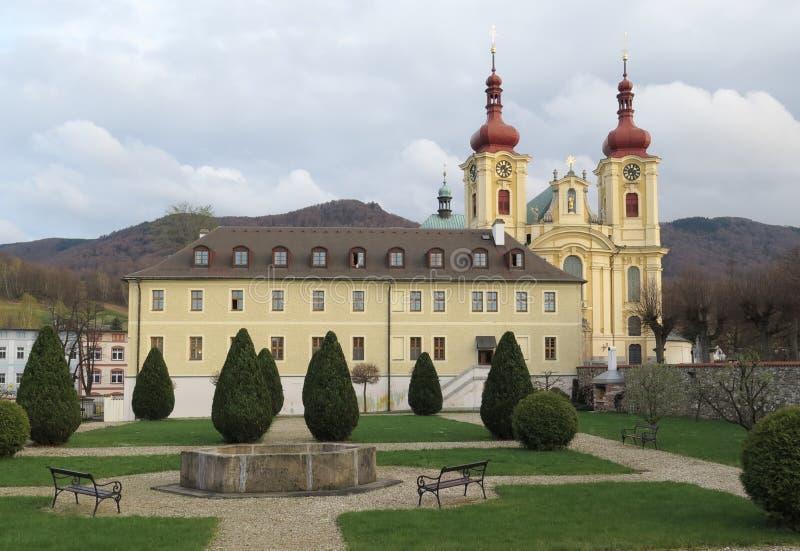 Église de Navstiveni Panny Marie dans Hejnice près de Liberec photographie stock libre de droits