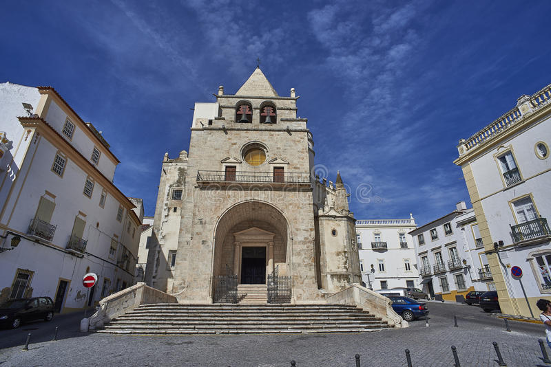 Église de Nossa Senhora DA Assuncao d'Elvas l'Alentejo, Portugal photos libres de droits